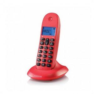 TELEFONO INALAMBRICO MOTOROLA C1001LB ROJO